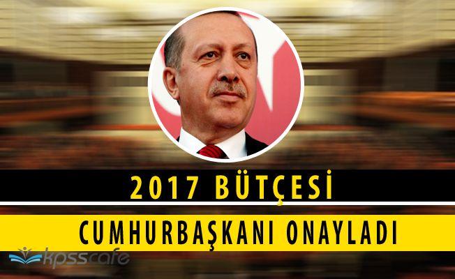 Recep Tayyip Erdoğan 2017 Bütçesini Onayladı