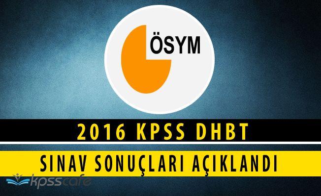 2016 KPSS Din Hizmetleri Alan Bilgisi Testi Sonuçları Açıklandı