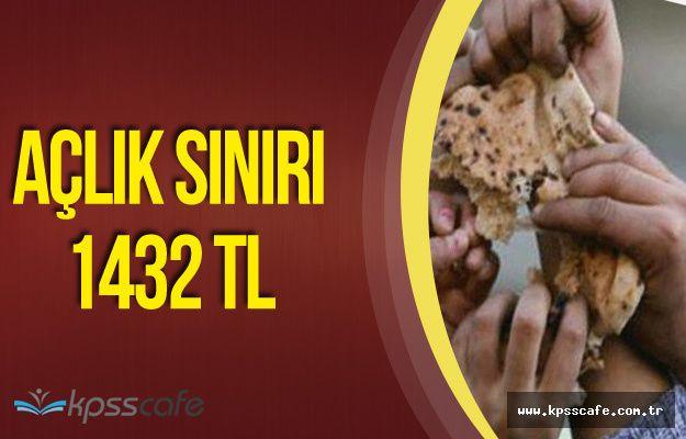 Açlık Sınırı 1432 TL Asgari Ücret 1300 TL