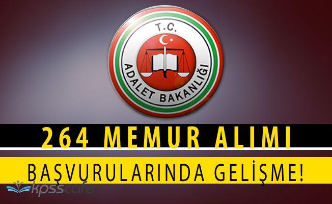 Adalet Bakanlığı Ceza ve Tevkifevleri 264 Memur Alımı Başvuruları Uzatıldı