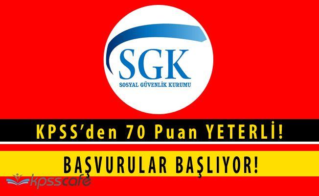 Sosyal Güvenlik Kurumu 400 Personel Alımı Başvuruları Başlamak Üzere! (KPSS'de 75 Puan)