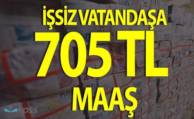 İşsiz Vatandaşlara 705 TL Maaş Ödenecek