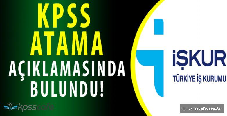 İŞKUR'dan KPSS Yerleştirme Açıklaması
