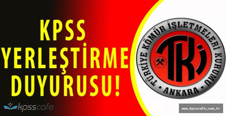 2016-2 KPSS Adayları Dikkat! TKİ'den KPSS Atama Açıklaması