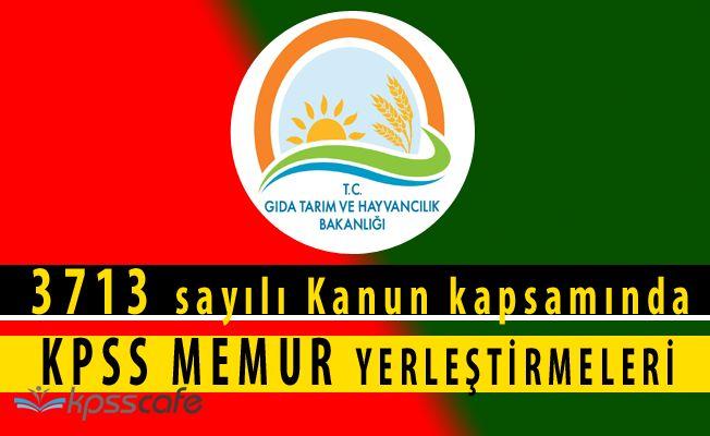 Tarım Bakanlığı'ndan KPSS Yerleştirme Açıklaması(3713 sayılı Kanun)