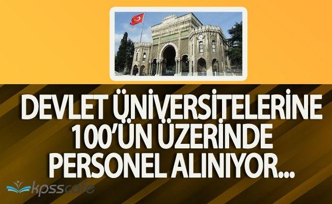 Devlet Üniversitelerine 100'ün Üzerinde Personel Alınacak (Başvurular Devam Ediyor)