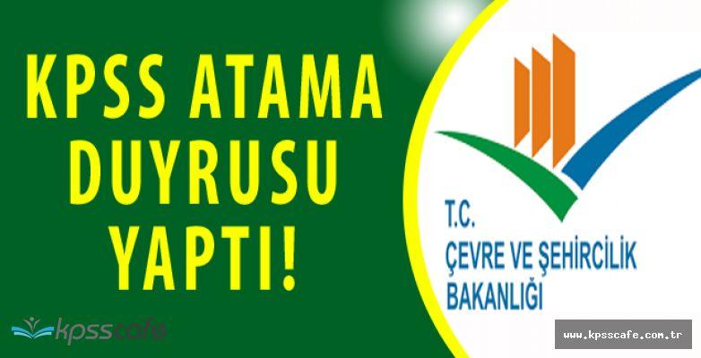 Çevre ve Şehircilik Bakanlığı'ndan AtamaDuyurusu (3713 Sayılı Kanun)