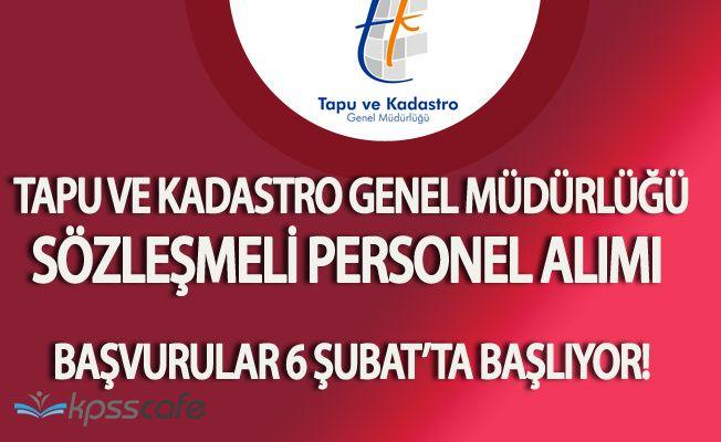 Tapu ve Kadastro Genel Müdürlüğü Sözleşmeli Personel Alacak