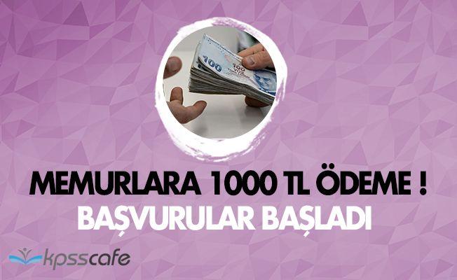 Memura En Az 1000 TL Ödenecek! Başvurular Başladı