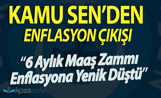 Türkiye Kamu Sen Genel Başkanı Koncuk'tan Enflasyon Çıkışı