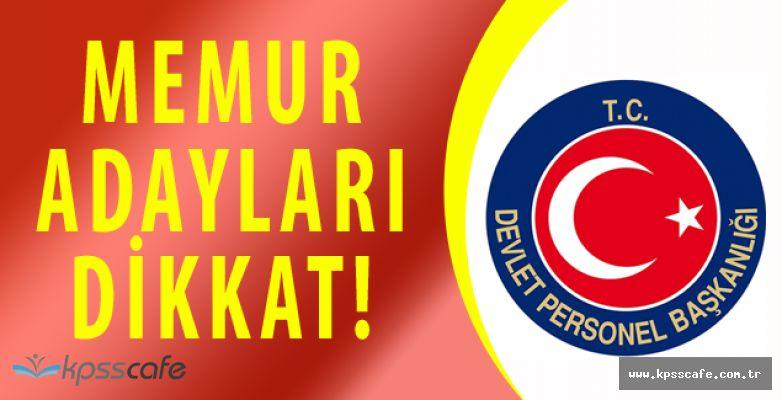 Devlet Personel Başkanlığı'ndan Memur Adaylarına Kritik Uyarı!