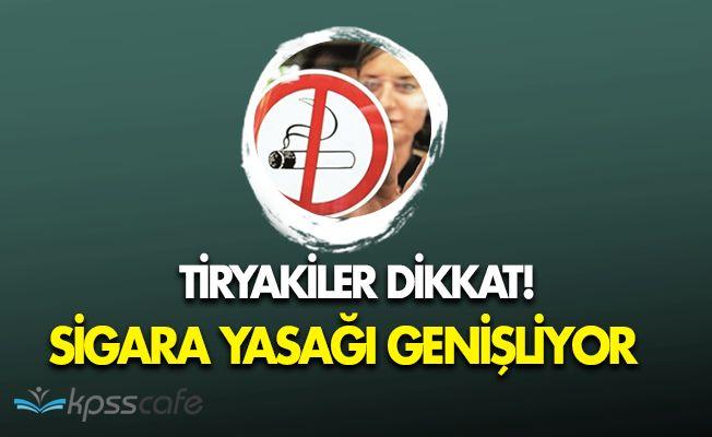 Tiryakiler Dikkat! Sigara Yasağı Genişliyor