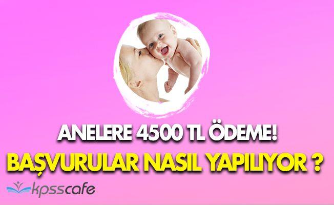 Annelere 4500 TL Ödeme! Kimler, Nasıl Başvuru Yapabilir?