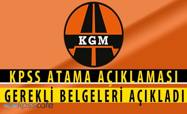 KGM'den KPSS Atama Duyurusu (2828 Sayılı Kanun)