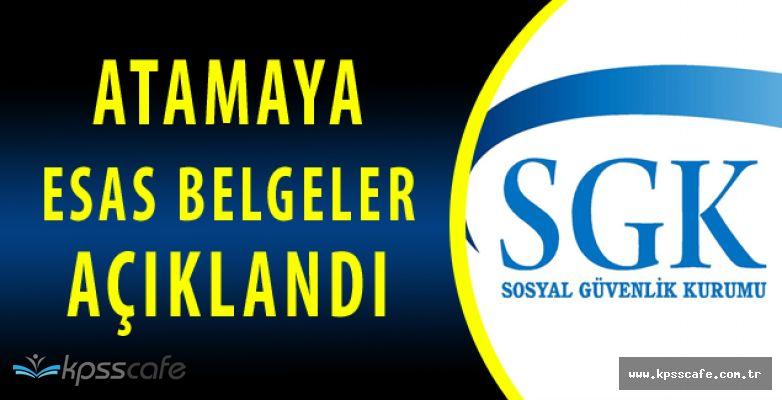 SGK'dan KPSS Atama Duyurusu (2828 Sayılı Kanun Kapsamında)