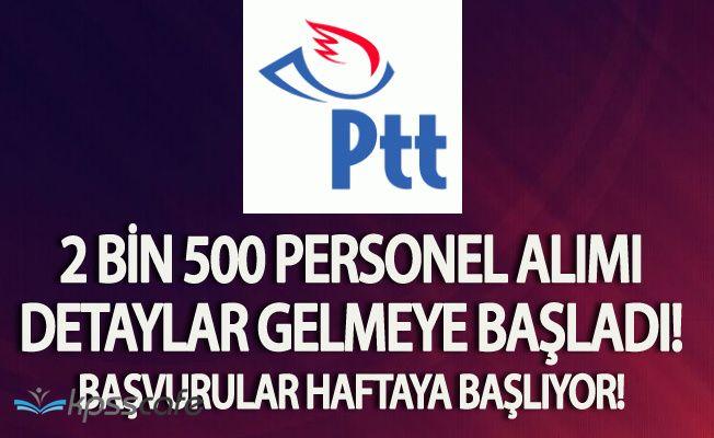 Flaş ! PTT 2 Bin 500 Personel Alacak