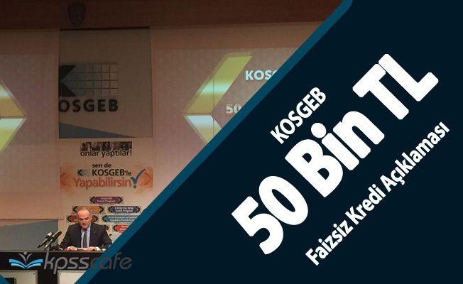 Faruk Özlü'den KOSGEB 50 Bin TL Faizsiz Kredi Açıklaması