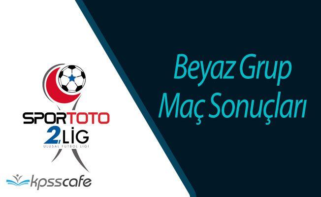 Spor Toto 2'nci Lig Beyaz Grup Maç Sonuçları (12 Ocak 2017)