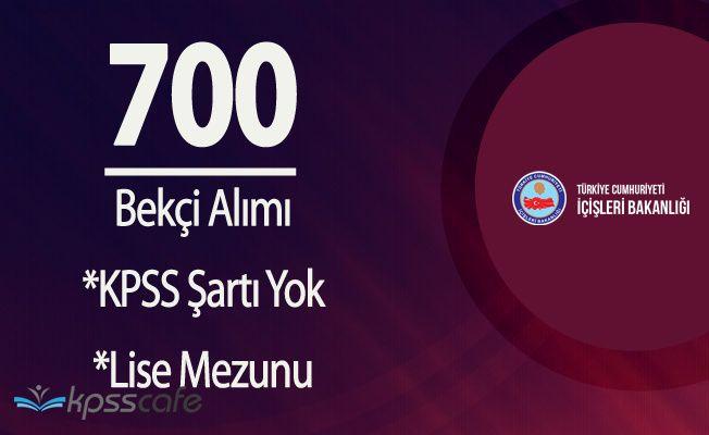 700 Bekçi Alımı için Başvurular Perşembe Günü Başlıyor (Lise Mezunu, KPSS Şartı Yok)