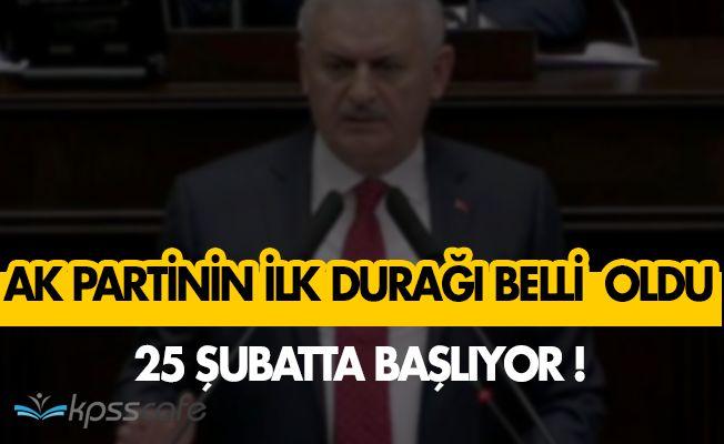 Başbakan Binali Yıldırım AK Parti'nin Kampanyasını Açıkladı! İlk Adres