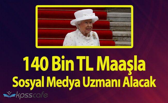 Kraliçe Elizabeth 140 Bin TL Maaşla Çalışacak Sosyal Medya Uzmanı Arıyor