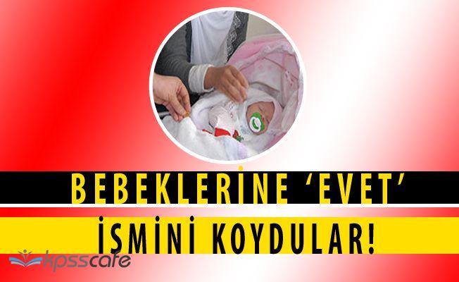 Bebeğinin Adını 'EVET' Koyan Aileye AKP İlçe Başkanından Çeyrek Altın!