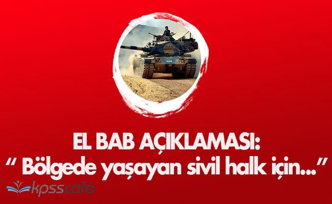 Türk Silahlı Kuvvetlerinden El Bab Açıklaması