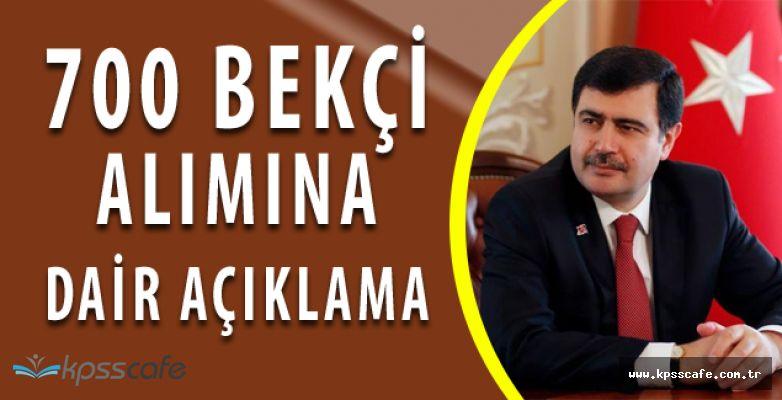 Vali Vasip Şahin KPSS ŞARTSIZ 700 Bekçi Alımı Hakkında Konuştu! Başvurularda Sona Yaklaşıldı