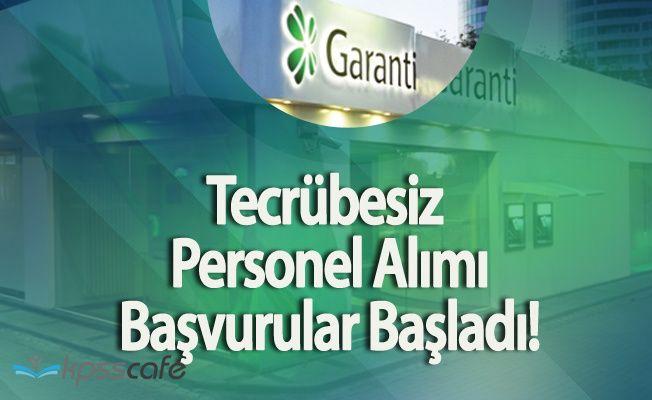 Garanti Bankası Tecrübesiz Personel Alımı Yapıyor (Başvurular Başladı)