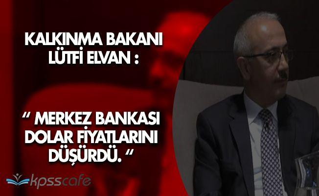 """Kalkınma Bakanı Elvan: """" Merkez Bankası Dolardaki Dalgalanmayı Düşürdü. """""""