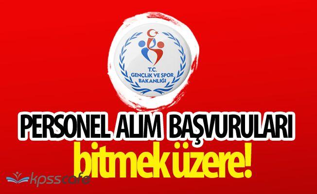 Gençlik ve Spor Bakanlığı Personel Alımı Başvurularında Son Saatler!