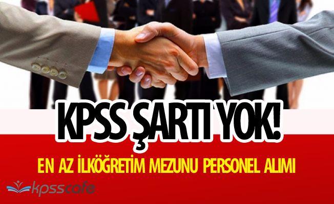 Cimitekke Belediye Başkanlığı'na KPSS ŞARTSIZ Personel Alınacak Başvurular Başladı