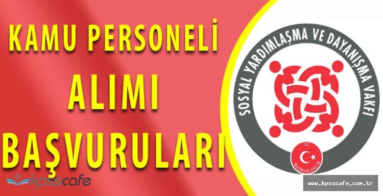 SYDV Kamu Personeli Alımları Sürüyor! (KPSS 60 PUAN)
