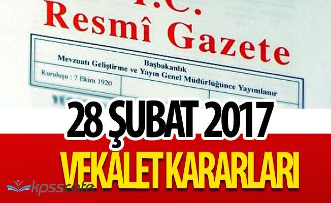 Cumhurbaşkanlığı ve Bakanlıklara Vekalet Tezkereleri Resmi Gazete'de!