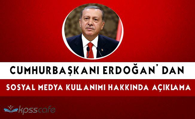"""Cumhurbaşkanı Erdoğan: """" Sosyal medyanın kültürümüzü yiyip bitirmesine gözyumamayız """""""