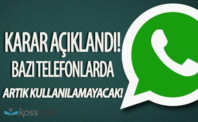 Kullanıcılar Şokta! Whatsapp Artık O Telefonlarda Kullanılmayacak!