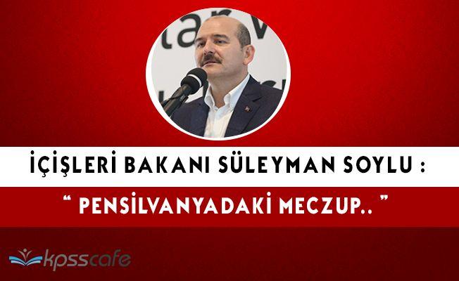 """Süleyman Soylu: """"Rahmetli Özal' ı da terbiye etmeye çalıştılar"""""""