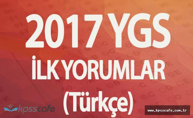2017 YGS Türkçe Soruları, Cevapları , Yorumları Kpsscafe'de