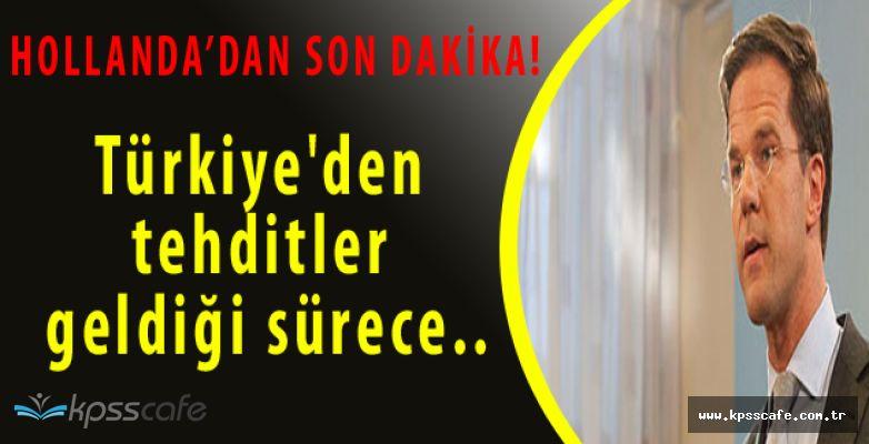 Hollanda'dan Son Dakika Türkiye Açıklaması!