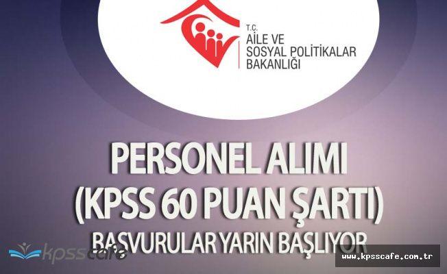 Bursa Aile ve Sosyal Politikalar İl Müdürlüğü KPSS En Az 60 Puanla Personel Alacak