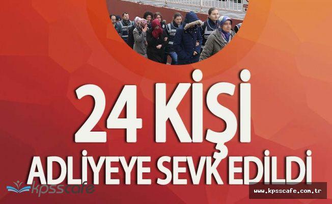 Kayseri'de FETÖ Soruşturmalarında Gözaltına Alınan 24 Eski Sağlık Personeli Adliyede