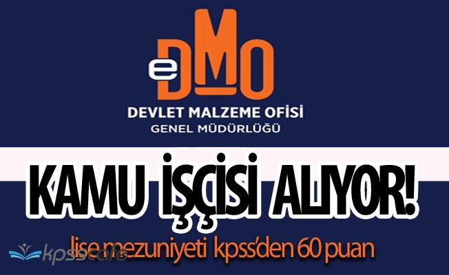 Devlet Malzeme Ofisi (DMO) Kamu İşçisi Alıyor! Lise Mezunu Olmak Yeterli!
