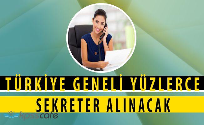 Türkiye Geneli Yönetici Asistanı - Sekreter Alımları 2017 / İnternetten Kolay Başvuru!