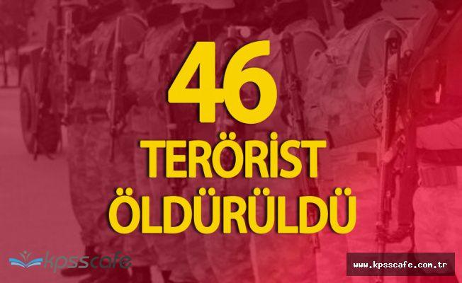 İçişleri Bakanlığı Az Önce Açıkladı '46 Terörist Öldürüldü'