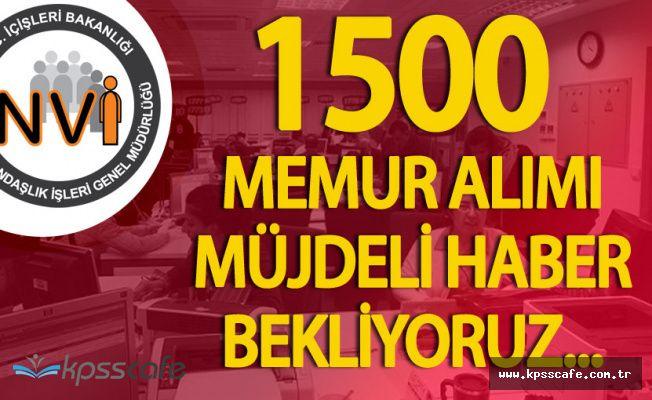 Nüfus Dairelerine 1500 Memur Alımı için Kritik Gün