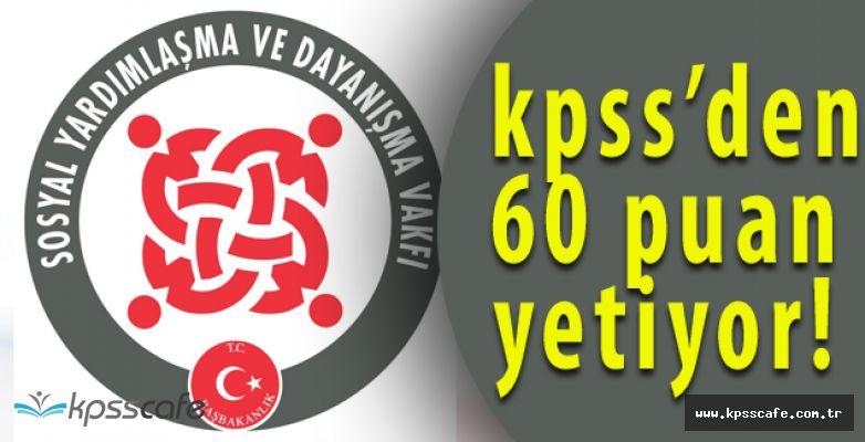 Evren Sosyal Yardımlaşma ve Dayanışma Vakfı Personel Alımı Yapıyor (KPSS 60 Puan)