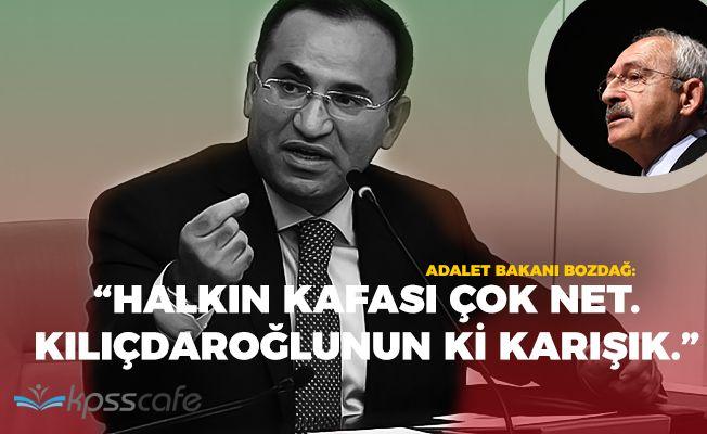 """Adalet Bakanı: """"Halkın kafası çok net, Kılıçdaroğlunun kafası karışık"""""""