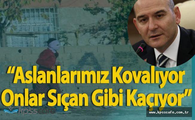 """İçişleri Bakanı Süleyman Soylu:"""" Aslanlarımız Kovalıyor, Onlar Sıçan Gibi Kaçıyor"""""""