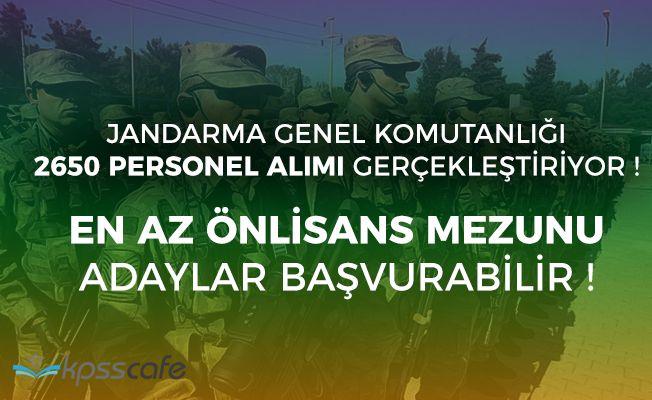 Jandarma Genel Komutanlığı 2650 Personel Alımı Başvuruları Başladı! Detaylar ve Rehber