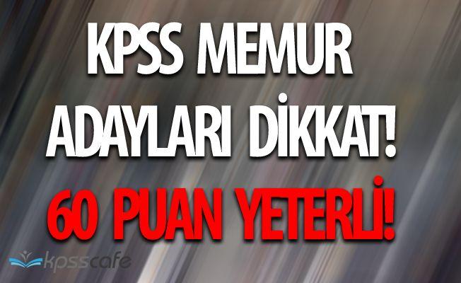 Bakanlığa KPSS'den 60 Puan ile 22 Personel Alım Yapılacak